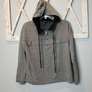 {Forever 21} gray quarter zip hoodie (M)
